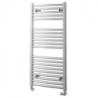 MaxHeat Trade Curved Heated Towel Rail - 1000mm High x 600mm Wide - Chrome