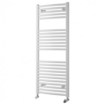MaxHeat Trade Curved Heated Towel Rail - 1200mm High x 600mm Wide - White