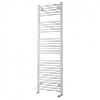 MaxHeat Trade Curved Heated Towel Rail - 1500mm High x 450mm Wide - White