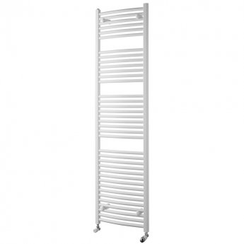 MaxHeat Trade Curved Heated Towel Rail - 1800mm High x 400mm Wide - White