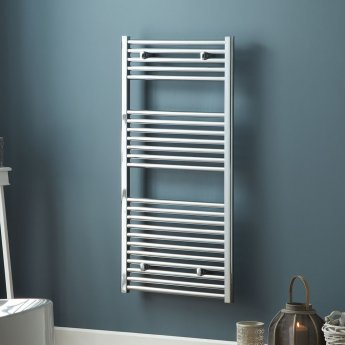 MaxHeat Trade Curved Heated Towel Rail - 800mm High x 500mm Wide - Chrome