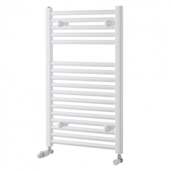 MaxHeat Trade Straight Heated Towel Rail - 800mm High x 400mm Wide - White