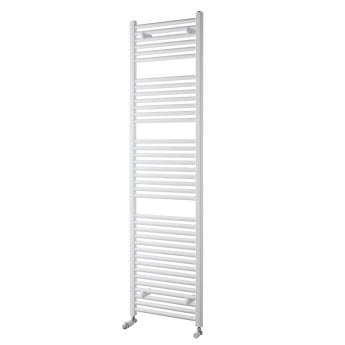 MaxHeat Trade Straight Heated Towel Rail - 1800mm High x 600mm Wide - White