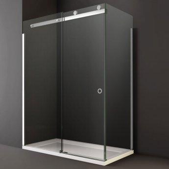 Merlyn 10 Series LH Sliding Shower Door 1700mm Wide - 10mm Clear Glass