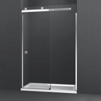 Merlyn 10 Series RH Sliding Shower Door with Tray 1700mm Wide - 10mm Glass