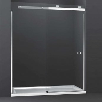 Merlyn 10 Series Sliding Shower Door 1000mm with 1000mm x 800mm Tray Left Handed - 10mm Glass
