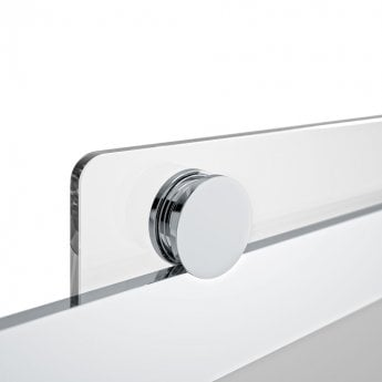 Merlyn 10 Series Sliding Shower Door with Tray 1400mm Wide Left Handed - Smoked Black Glass