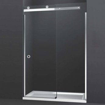 Merlyn 10 Series Sliding Shower Door with Tray 1400mm Wide Right Handed - Clear Glass