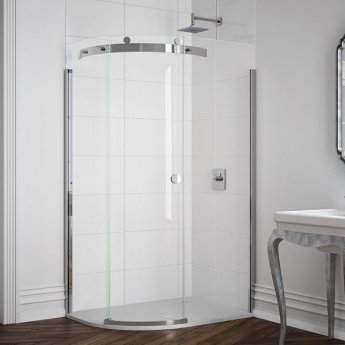 Merlyn 10 Series Single Offset Quadrant Shower Enclosure 1200mm x 800mm LH - Clear Glass