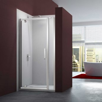 Merlyn 6 Series Pivot Shower Door 1000mm Wide and 215mm Inline Panel - 8mm Glass