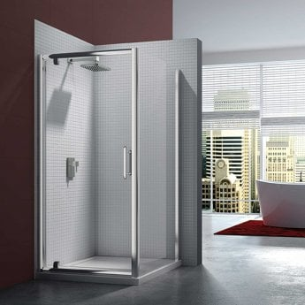 Merlyn 6 Series Pivot Shower Door with Tray 760/800mm Wide - Clear Glass