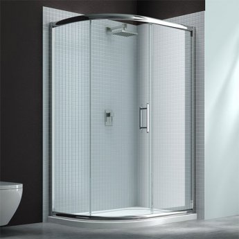 Merlyn 6 Series Single Offset Quadrant Shower Enclosure with Tray 1200mm x 800mm LH - Clear Glass