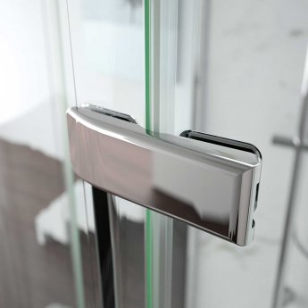 Merlyn 8 Series Frameless Inline Hinged Shower Door 1000+ Wide - 8mm Glass