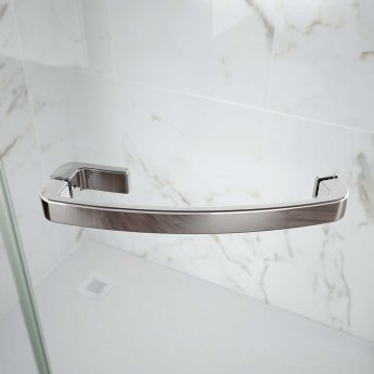 Merlyn 8 Series Frameless Single Offset Quadrant Shower Enclosure with MStone Tray 900mm x 760mm