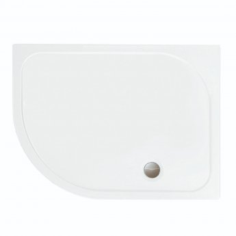 Merlyn 8 Series Frameless Offset Quadrant Shower Enclosure with LH Tray 900mm x 760mm - 8mm Glass