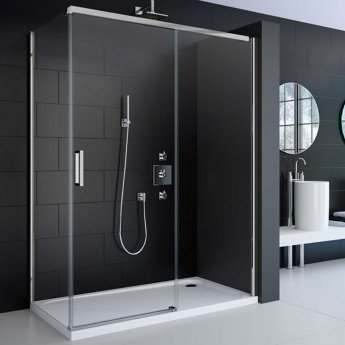 Merlyn 8 Series Frameless Sliding Shower Door 1400mm Wide - 8mm Glass