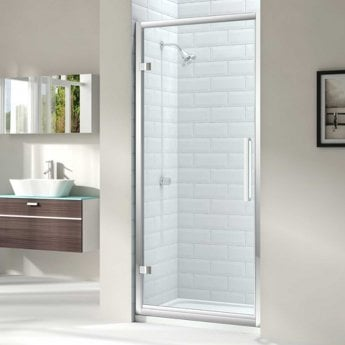 Merlyn 8 Series Hinged Shower Door 760mm Wide - Clear Glass