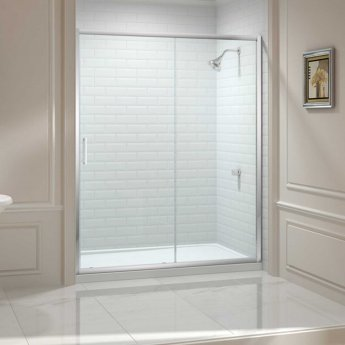 Merlyn 8 Series Sliding Shower Door 1000mm Wide - Clear Glass