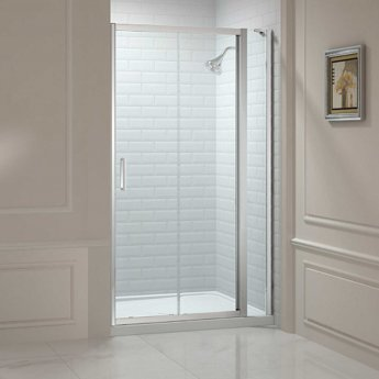 Merlyn 8 Series Sliding Shower Door 1000mm Wide and 150mm Inline - 8mm Glass