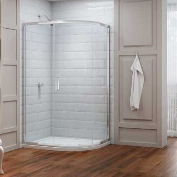 Merlyn 8 Series Offset Quadrant Shower Enclosure with Tray 1200mm x 800mm Right Handed