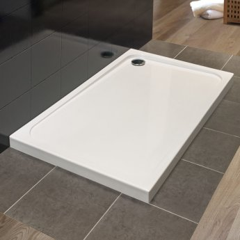 Merlyn 8 Series Swivel Walk-In Enclosure with End Panel and Tray - 1500mm x 900mm - Clear Glass