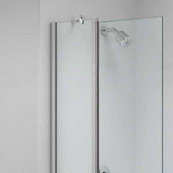 Merlyn Ionic Two Panel Folding Square Bath Screen, 900mm x 1500mm, 6mm Glass