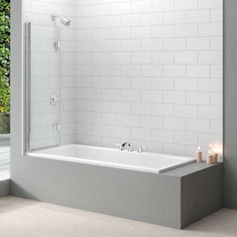 Merlyn Ionic Two Panel Folding Bath Screen, 1100mm x 1500mm, 8mm Glass