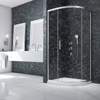 Merlyn Ionic Essence Framed Quadrant Shower Enclosure 900mm x 900mm - 8mm Glass