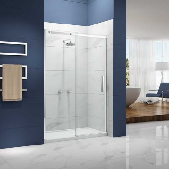 Merlyn Ionic Essence Sliding Shower Door, 1200mm Wide, 8mm Glass