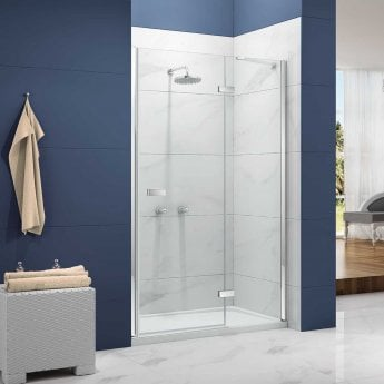 Merlyn Ionic Essence Hinged Shower Door and Inline Panel, 1000mm Wide, 8mm Glass