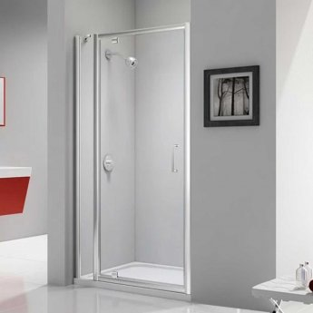 Merlyn Ionic Express Pivot Shower Door and Inline Panel, 1080mm-1140mm Wide, 6mm Glass