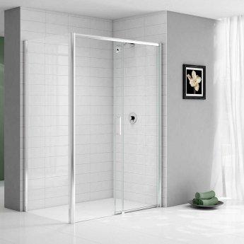 Merlyn Ionic Express Low Level Sliding Shower Door 1000mm Wide RH - 6mm Glass