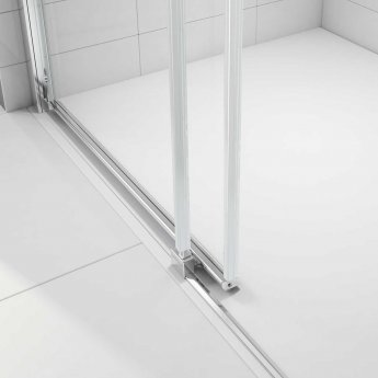 Merlyn Ionic Express Low Level Sliding Shower Door 1200mm Wide LH - 6mm Glass