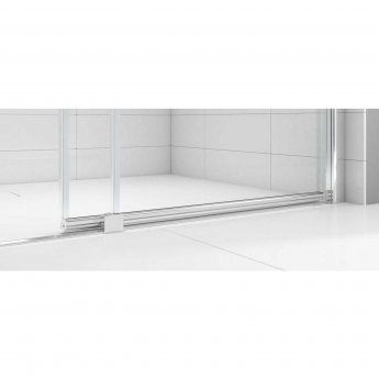Merlyn Ionic Express Low Level Sliding Shower Door 1200mm Wide RH - 6mm Glass