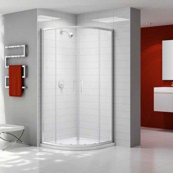 Merlyn Ionic Express Quadrant Double Shower Enclosure, 900mm, 6mm Glass