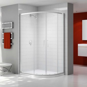 Merlyn Ionic Express Offset Quadrant Double Shower Enclosure, 1200mm x 800mm, 6mm Glass
