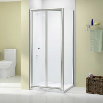 Merlyn Ionic Source Bi-Fold Shower Door 700mm Wide - 4mm Glass