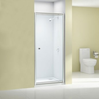 Merlyn Ionic Source Pivot Shower Door 900mm Wide - 6mm Glass