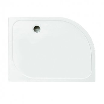Merlyn Ionic Touchstone Offset Quadrant Shower Tray, 1000mm x 800mm, Left Handed