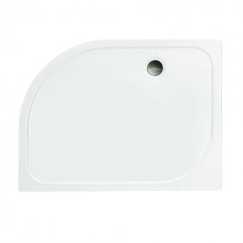Merlyn Ionic Touchstone Offset Quadrant Shower Tray with Waste, 1200mm x 900mm, Right Handed