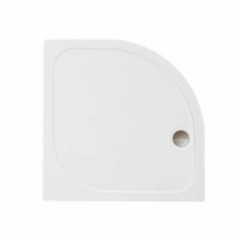Merlyn Ionic Touchstone Quadrant Shower Tray with Waste, 900mm x 900mm, White