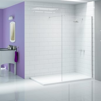 Merlyn Ionic Wet Room Glass Shower Panel 300mm W - 8mm Glass