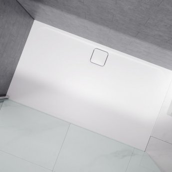 Merlyn Level25 Rectangular Shower Tray with Waste 1200mm x 800mm - White
