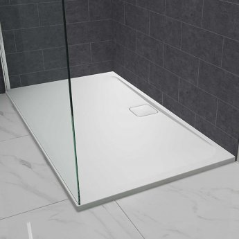 Merlyn Level25 Rectangular Shower Tray with Waste 1400mm x 900mm - White