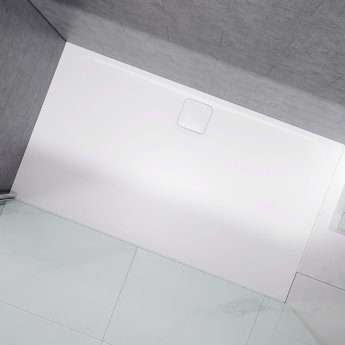 Merlyn Level25 Rectangular Shower Tray with Waste 1200mm x 900mm - White