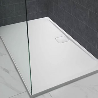 Merlyn Level25 Rectangular Shower Tray with Waste 1300mm x 800mm - White