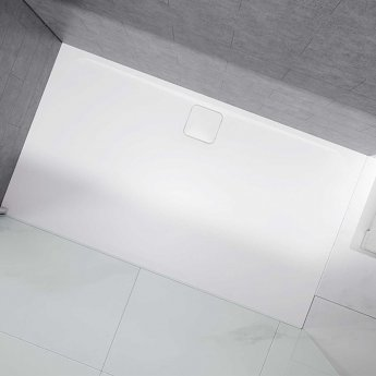 Merlyn Level25 Rectangular Shower Tray with Waste 1500mm x 800mm - White