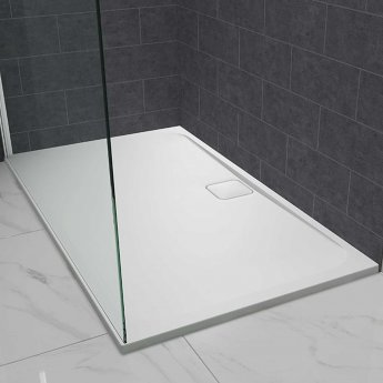 Merlyn Level25 Rectangular Shower Tray with Waste 1600mm x 900mm - White