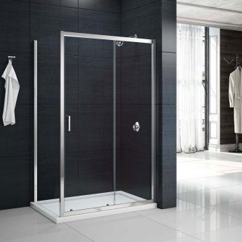 Merlyn Mbox Sliding Shower Door 1200mm Wide - 6mm Clear Glass