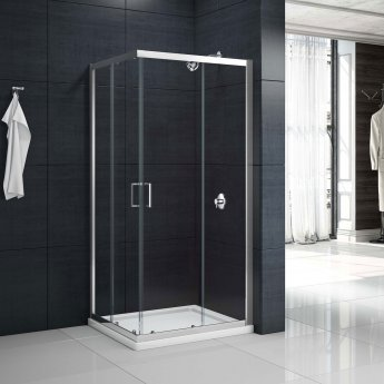 Merlyn Mbox Corner Entry Shower Enclosure 800mm x 800mm - 6mm Clear Glass